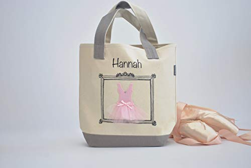 Small Ballerina Tote, Dance Bag, Personalized Flower Girl Gifts, Tutu Ballet Bag