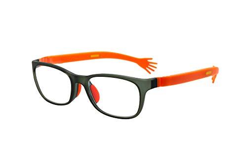 FLOAT READING フロート リーディング (老眼鏡) テンプル(腕)のカラーを選べる グッドデザイン賞受賞のオシャレな老眼鏡 鯖江企画 驚きの掛け心地 首にも掛けれる ブルーライトカット 超軽量 モデル:クラウド (クラウド + ハグ(オレンジ)