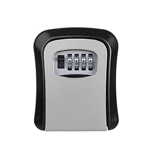 SH-RuiDu Caja de seguridad para llave de combinación de 4 dígitos para exteriores con llave montada en la pared