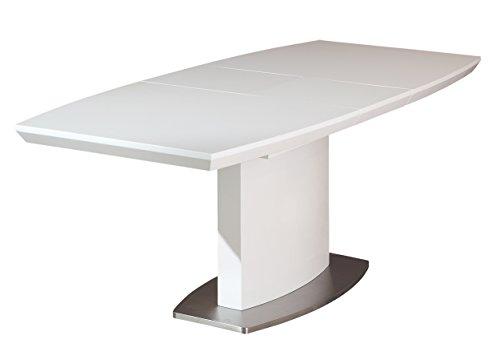 Esidra Atwater Tavolo Allungabile, Legno, Bianco, 160 x 90 x 76 cm