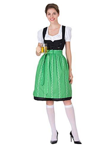 WanYangg Mujer Disfraz de Vestido de Oktoberfest, Vestido Dirndl Disfraz de Bvara Dirndl,Blusa para Delantal Carnaval Cosplay 5# M