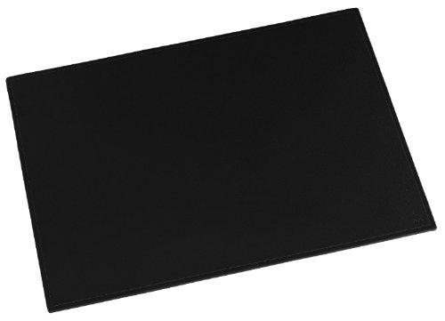 Läufer 38436 Scala Schreibtischunterlage, 45x65 cm, naturgenarbtes Rindsleder, schwarz, Handgefertigt aus Echtleder in Deutschland, Schreibunterlage aus Leder