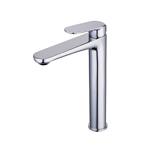 Badrum kärl handfat kranar ett handtag ett hål hög kropp krom massiv mässing kommersiell toalett handfat tvättställ blandare kran gudetap GT7897H