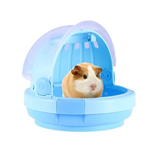 Hamster Hamster Carrier-Kreative tragbare kleine Transportbox für Syrische Hamster Zwerghamster Maus und andere kleine Tiere-Blau