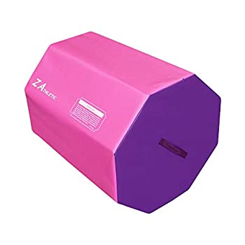 Z ATHLETIC Octagon Mat for Gymnastics Tumbling Cheerleading Pink and Purple
