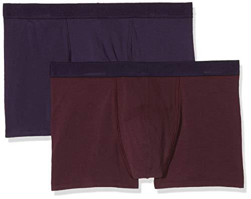 Dim Sous-vêtements Homme Herren Boxer Soft Power X2 Boxershorts, Mehrfarbig (Mauve Vigne/Violet Velours 8nm), XX-Large (Herstellergröße: 6) (2er Pack)