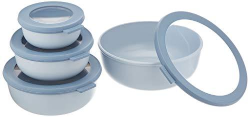 Mepal Set Multischüssel Cirqula flach, 4-teilig (350+750+1250+2250 ml) - Nordic Blue set-cirqula-4-teilig-35075012502250-nordic-blue, pp/TPE, 0 mm, 4