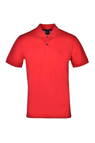 Hugo Boss Poloshirt Regular Fit aus Piqué Baumwolle Pima, Rot Small