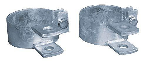 Eider Scharnierbolzenaufnahme für Metall Torpfosten, Ø 88 mm - für Weidetore - Zur Befestigung der Scharniere am Torpfahl - Feuerverzinkt