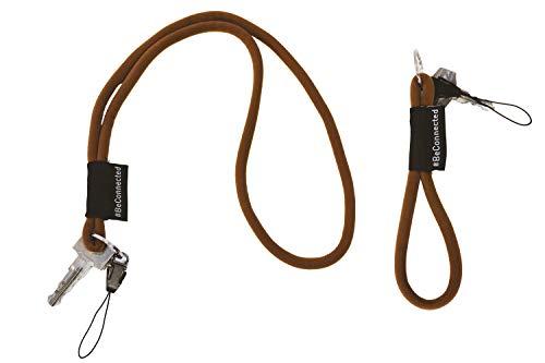NRM-Products - Juego de llaveros (antracita, 15 cm y 45 cm), banda con anillo para llaves, DNI, teléfono móvil, cámara, cordón para hombre, mujer y niños