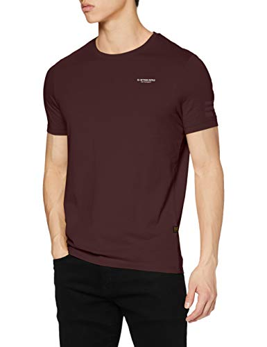 G-STAR RAW Mens Text Graphic Slim T-Shirt, dk fig 336-1545, XL