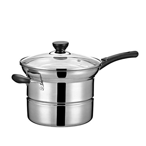 Steamer Stainless Steel Steamer Cooker, Nonstick Saucepan with Cover, Induction Compatible17*20cm for Kitchen for Home