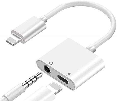 Apple MFi Certified Lightning to 3 5mm Headphone Splitter 2 in 1 Lightning to 3 5mm Headphone product image