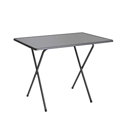 Scherentisch anthrazit klappbar als Campingtisch, Gartentisch ca. 60 x 80 x 64 cm anthrazit - witterungsbeständige Klapptisch als Beistelltisch