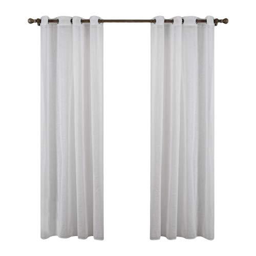 GUOCU Cortinas Visillos Translucida para Ventanas Suave con Ojales para Dormitorio Y Salón Habitación 1 140X160CM (1 Unidad)
