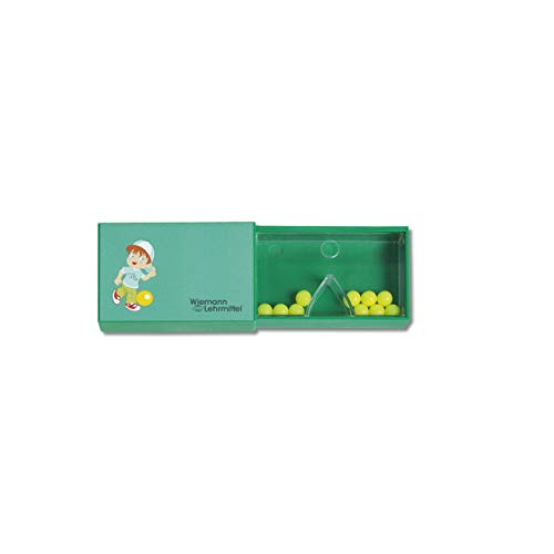 Wiemann Lehrmittel Schüttelbox, Split-Box für Mathe, Multi-Split, 10 Kugeln