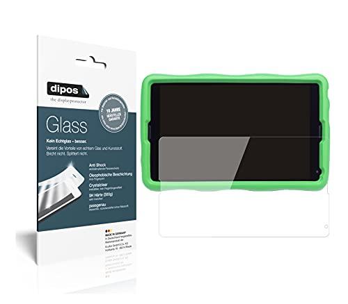 dipos I 2X Panzerfolie klar kompatibel mit Medion Kids Tablet E10440 Schutzfolie 9H Bildschirmschutz-Folie