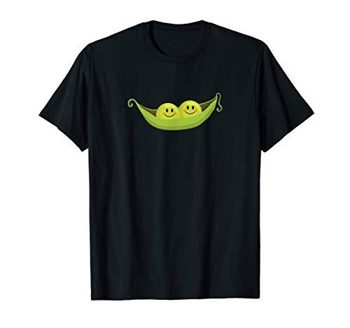 cute two peas in a pod vegetarian design T-Shirt