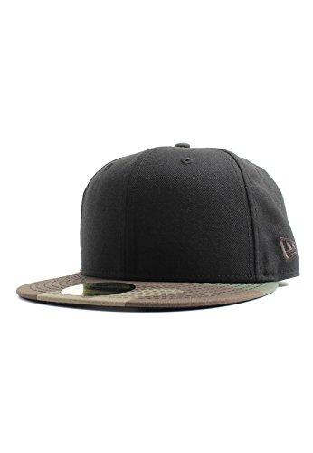 New Era Black Woodland Camo Blanc Blank 59fifty 5950 Fitted Cap Kappe Men