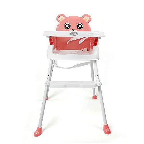 4 in1 Baby Hochstuhl Cabrio Kleinkind Tisch Sitz Booster Säuglingsernährung Stuhl (Pink)