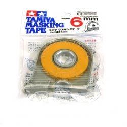 Tamiya 300087030 - Masking Tape mit Abroller, 6 mm x 18 m