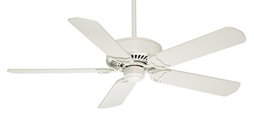 Casablanca Indoor Ceiling Fan, with remote control - Panama 54 inch, White, 59510 (Renewed)