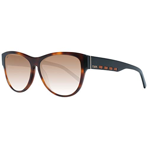 TOD'S TO0225 5653F Tods Sonnenbrille TO0225 53F Schmetterling Sonnenbrille 56, Braun