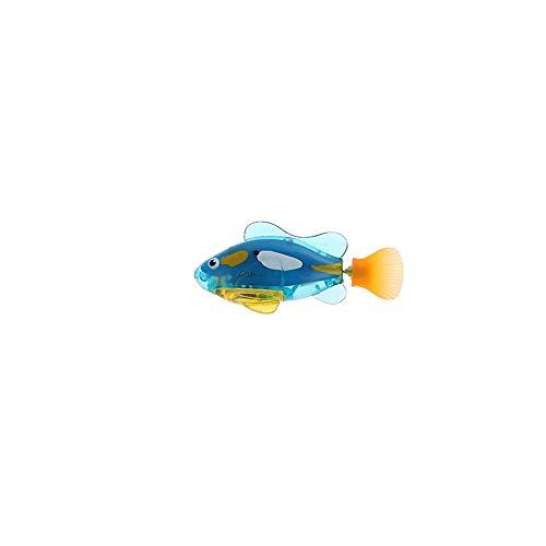 Wasserdicht Fisch Spielzeug aus Kunststoff Fisch Spielzeug Roboter Schwimmen Fisch Batteriebetriebene Elektro Schwimmen Tauchen Schwimmdock Wasser elektronisches Spielzeug mit Knopf-Batterie (blau)