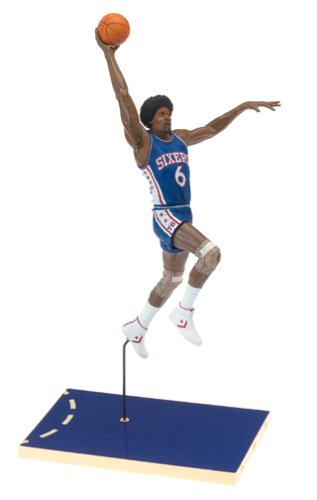 Julius Erving #6 Blue Jersey Philadelphia 76'ers McFarlane NBA Legends Hardwood Classics Six Inch Action Figure by Unknown