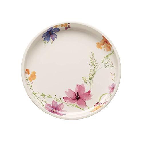 Villeroy & Boch Mariefleur Basic Servierplatte, 26 cm, Premium Porzellan, Weiß/Bunt