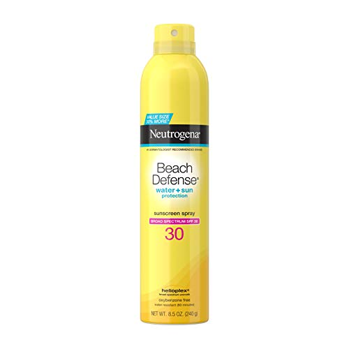 Neutrogena Beach Defense Sunscreen Spray SPF 30 Water-Resistant Sunscreen Body Spray with Broad Spectrum SPF 30, PABA-Free, Oxybenzone-Free & Fast-Drying, Superior Sun Protection, 8.5 oz