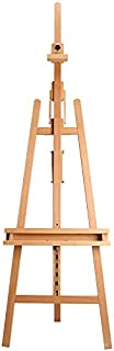 YXSDD Folding Forward Tilting Oil Easel, Multi-Angle, Suitable for Adult Use, Solid Wood Production (Color : Wood Color)
