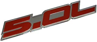 H/&H Merchants 1 Pair New 5.0//50 Coyote Direct Emblem 3D badge Replacement for EM2430 302 Boss Ford Mustang GT F150 Chrome