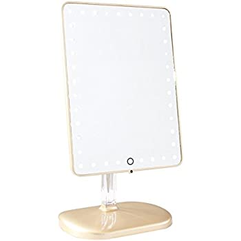 Impressions Vanity Company Touch Pro LED Makeup Mirror with Wireless Bluetooth Audio + Speakerphone & USB Charger, 32 Pound