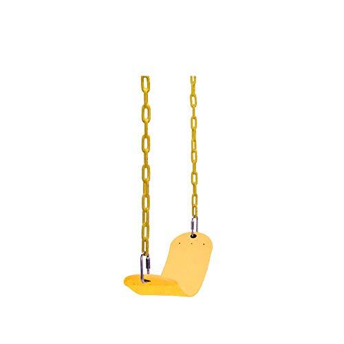 Takefuns - Juego de columpios de repuesto para exteriores, parque de juegos al aire libre, columpio de árbol para niños, color amarillo