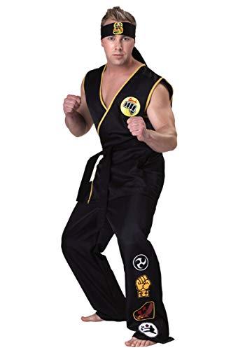 Adult Plus Size Cobra Kai Costume 3X Black