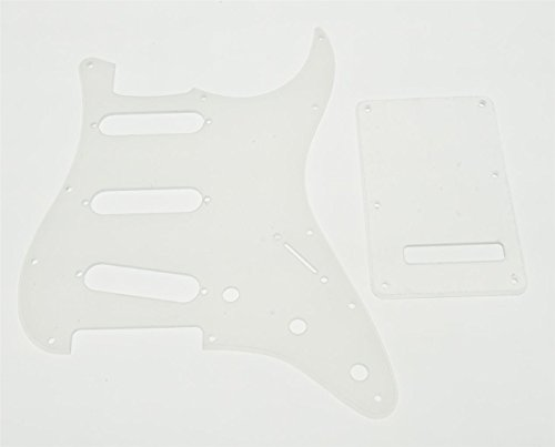 KAISH 11 Hole Strat SSS Pickguard ST Back Plate Trem Cover fits USA/Mexican Fender Strat Clear Transparent