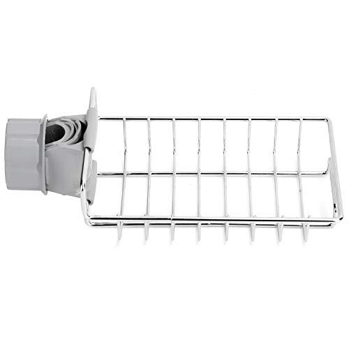 Organizador de torneira, rack de cozinha multifuncional de aço inoxidável, à prova de ferrugem para esponjas de limpeza de líquidos para lava-louças
