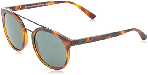 Burberry 0Be4245 338271 53 Gafas de sol, Marrón (Havana/Grey Green), Hombre