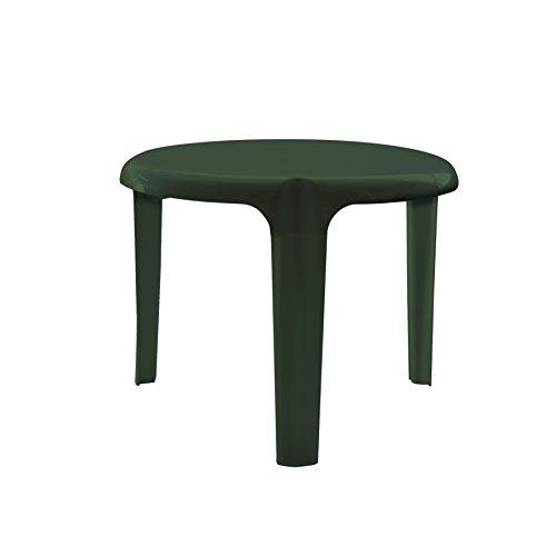 Garden Life 4009V - Mesa auxiliar, 50 x 50 x 8 cm, color verde