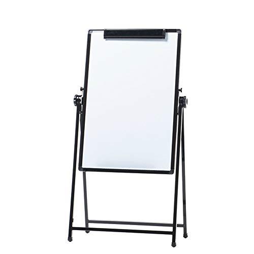 Tableau blanc magnétique Bureau double face Tableau blanc carte de démonstration Flip réglable + 3 effaçable Stylos 1 Tableau noir Gomme Tableau blanc pour Bureau ( Color : White , Size : 60x90cm )