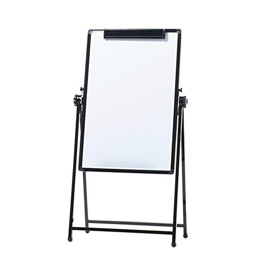 Tableau Blanc Double Face Bureau Blanc Flipboard réglable Demo Board + 3 effaçable Stylos, 1 Tableau Noir Gomme, 8 Boutons magnétiques (Couleur : Blanc, Taille : 60x90cm)