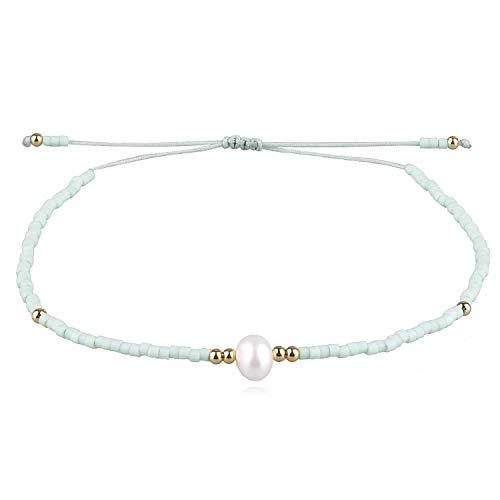 KELITCH Shell Pearl Seed Beads Friendship Strand Bracelets Handmade Adjustable Bohemia String Bracelet Girls Fashion Jewelry