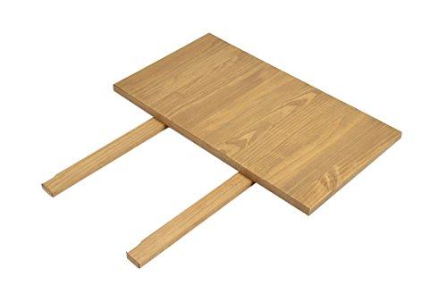 2er Set Ansteckplatten 50x90cm Rio Bonito Farbton Honig hell für Esstisch 160x90 und 180x90cm Pinie Massivholz Tischverlängerung geölt und gewachst