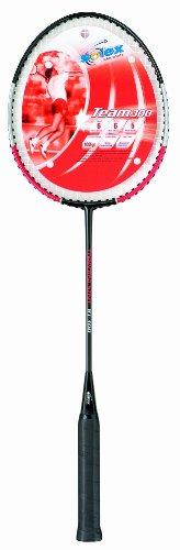 Solex Sports Badminton-Schläger Team 300 Stahl, rot, 66 x 20 x 3 cm, 44120Solex Sports Badminton Schläger Team 300 Gewicht 100g Schaft gehärteter Stahl Kopf ALU mit Kunststoff-Saiten Bespannung