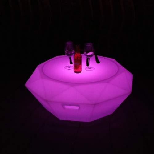 Wlnnes Outdoor LED Cube Hocker Farbe 16 Farbe Dekoration Dekoration Mood Light Stuhl Bunte Nachtwasserdichte Platz Dimmbare Nachttischlampe Stuhl for Hof Park Square (Color : 80cm*80CM*30cm)