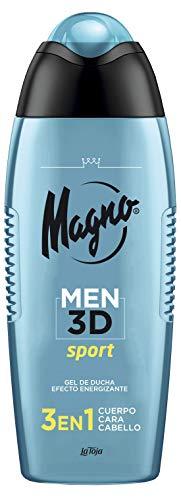 Magno Men 3D - Gel Sport 3 en 1- Cuerpo, Cara y Cabello, 400 ml