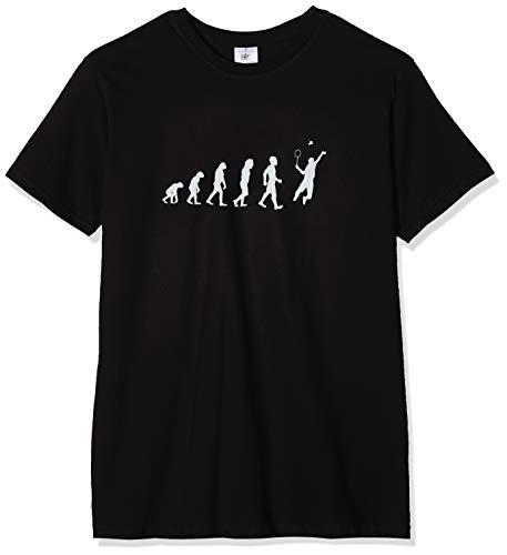 Texlab Badminton Evolution - Herren T-Shirt, Größe XL, schwarz