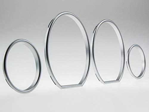LETRONIX Satin Matt Tachoringe Tacho Ringe zum Clipsen geeignet für Fahrzeug E36 Z3 3er Reihe