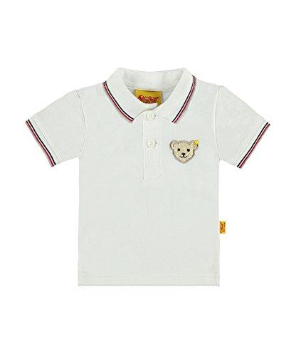 Steiff Steiff Baby-Jungen 1/4 Arm Poloshirt, Weiß (Bright White 1000), 62